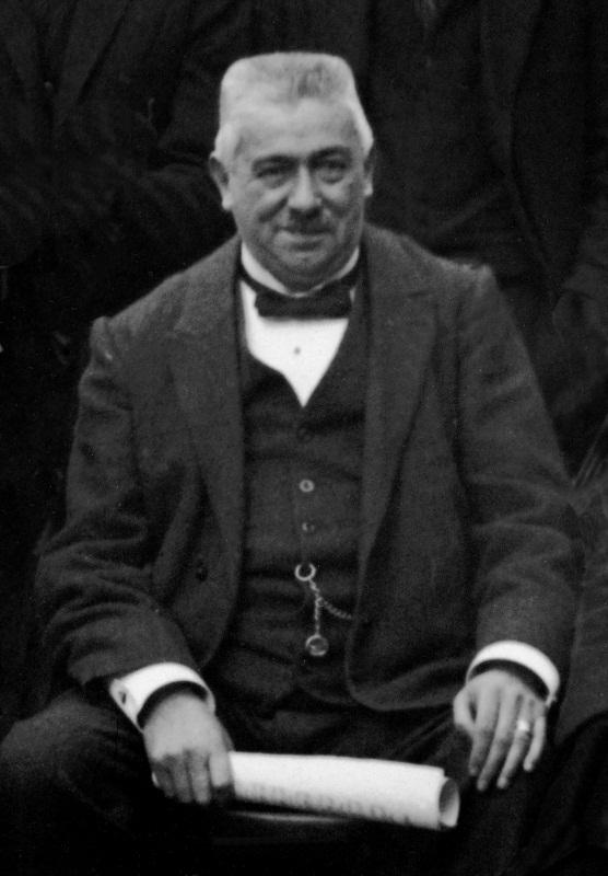 Josef Zelger, Hauptinitiator bei der Gründung des Orchestervereins und dessen erster, langjähriger Dirigent; Aufnahme vom Jahre 1924