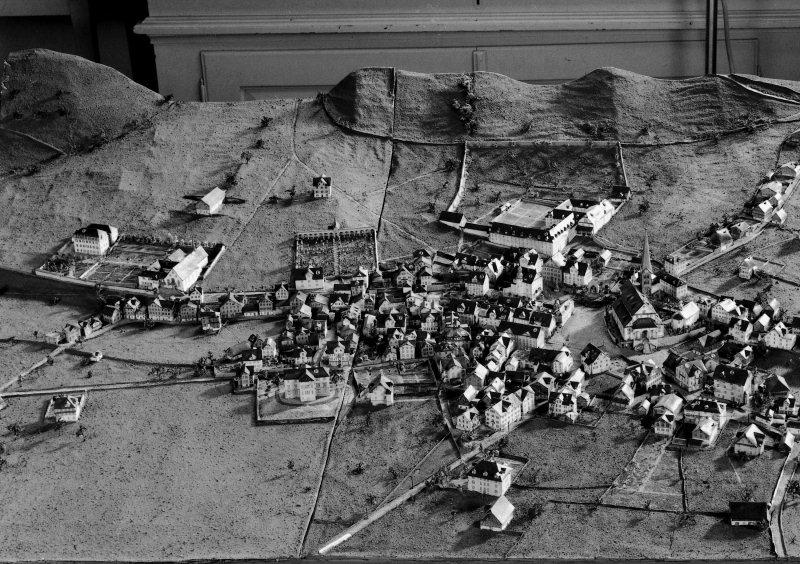 Stans in der Zeit der Vereinsgründung. Ausschnitt aus dem Dorfmodell von Jakob Christen aus dem Jahre 1890